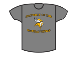 Grey Viking T Shirt