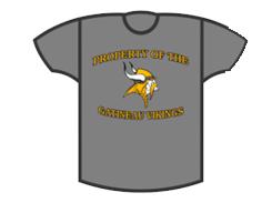 Grey Viking T Shirt